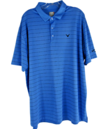 Callaway Opti-Dri Short Sleeve Golf Polo Shirt 100% Polyester Blue Striped - $16.78