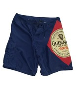Guinness Sz L Swimming Trunks Board Shorts Blue Pockets Beer Irish Nice Stout - $14.25