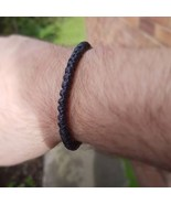 Fair Trade Slim Black Cotton Knotted Thai Wristband Handcrafted Bracelet - $6.74
