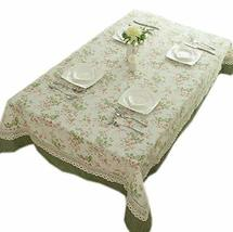 Elegant Floral Patchwork Party Table Cloth, 55 By 78 Inches
