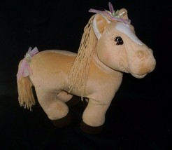"12"" Cabbage Patch Kids 2005 Yellow Horse Pony Stuffed Animal Plush For Doll Toy - $19.64"