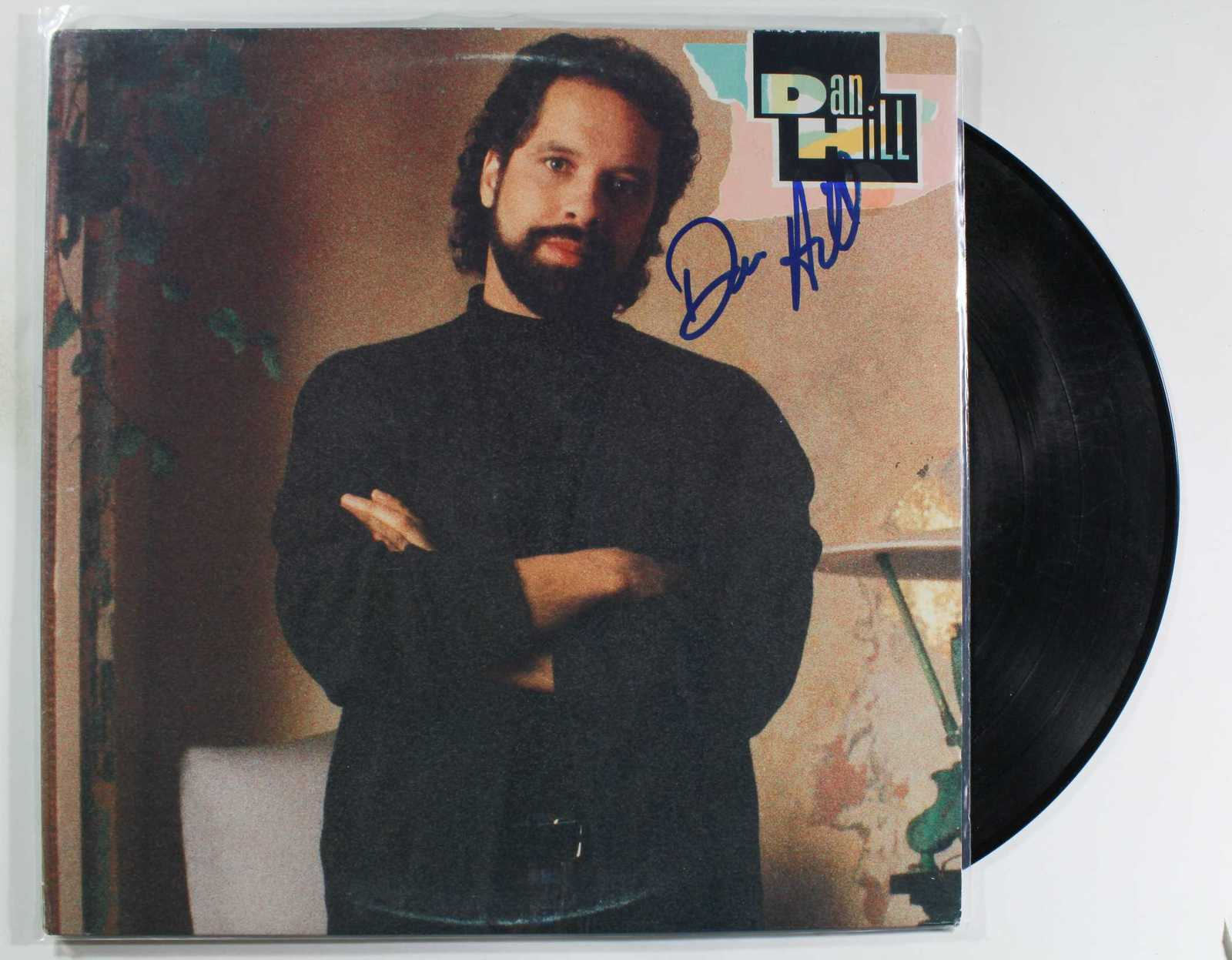 Primary image for Dan Hill Signed Autographed Record Album w/ Proof Photo