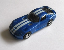 Dodge Viper GTS Coupe Daimler Chrysler Maisto Die Cast Metal Blue Superc... - $2.47