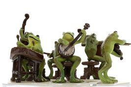 Hagen Renaker Froggy Mountain Breakdown Complete Bluegrass Frog Band 6 Piece Set image 5