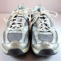 Skechers Shape Ups Womens Silver / Blue Sneakers Size 10 - $44.95