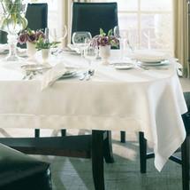 """Sferra Classico Square Tablecloth Ecru Ivory Custom 66x66"""" Woven Linen New - $139.90"""