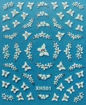 BANG STORE Nail Art 3D Decal Stickers Butterfly Butterflies Flowers  - $3.67