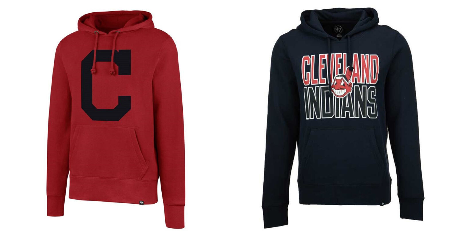 MLB Cleveland Indians Men's Hoodie Baseball Hooded Pullover Sweatshirt NEW
