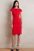 NWT ANTHROPOLOGIE EVANGELINE RED SHEATH DRESS by MAEVE 2 - $101.99