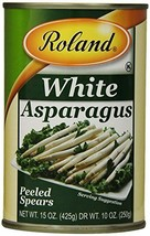 Roland Foods White Asparagus, Peeled Spears, 15 Ounce (Pack of 3) - $40.59