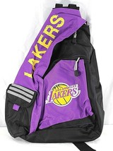 NBA Los Angeles Lakers Sling Backpack Teardrop Black/Purple - ₹2,091.21 INR