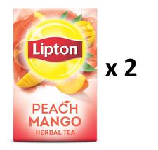 Lipton Peach Mango Herbal Tea (20 Bags Each) - Pack of 2 - FROM CANADA - $29.57