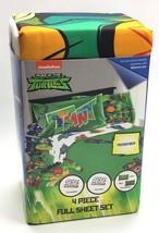Rise Of The Teenage Mutant Ninja Turtles / 4pc Microfiber Sheet Set / Full Size - $24.29