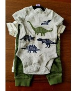 CARTER'S Baby T-Rex DINOSAURS Tee Shirt Pants Bodysuit Boy 3M 3 Months 3... - $24.50