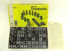 Vintage 1970 Milton Bradley 4133 Dragon Dominoes Halsam Double Twelve Wo... - $16.99