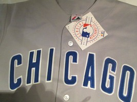 Chicago Cubs Jersey Men's Gray Road Away Jersey Size Large MLB Majestic ... - $29.80