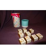 Bath Cubes Made in England Gift Set of 9 Mixed Fragrances Rose Gardenia - $19.23