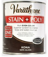 1 Can Varathane 32 Oz Stain & Poly 266153 Kona Semi Gloss Rich Even Color - $20.99