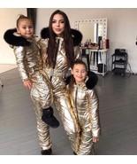 Womens Mens Metallic Ski Suit Snow Skianzug Bronze Glanznylon Glossy Out... - $249.00