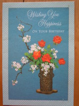 Vintage Ambassador Cards Wishing You Happiness On Your Birthday Greeting... - $2.99