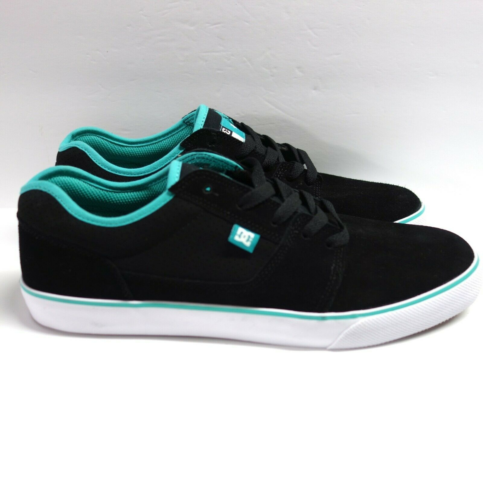 DC Tonik S Super Suede Skateboard Shoes Men's 11 Black Turquoise New w/o Box
