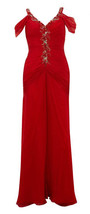 ALBERTO MAKALI Red Ruched Silk Maxi Dress BNWT - $257.39