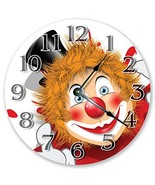Sugar Vine Art Funny Clown Face Silent Non Ticking Round Battery Operate... - $17.76