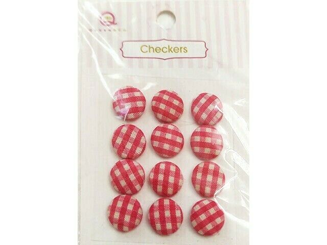Queen & Co. Checkers Embellishments, Set of 12 #FB1959