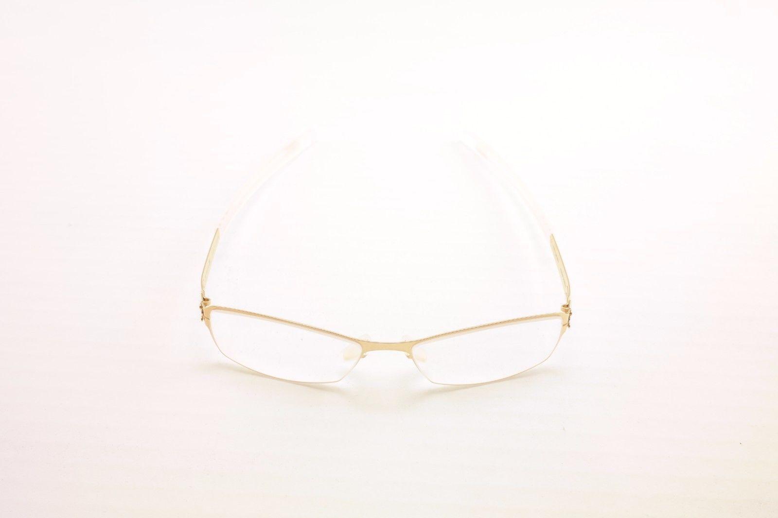 IC! Berlin Eyeglasses Frame Bobby Matt Gold Stainless Steel Germany 45-14-125 25
