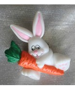 Cute Bunny Rabbit with Carrot Brooch    - $11.00
