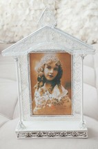 """White Vintage Church House Wedding Metal Picture Frame Photo Favors 10.75"""" - $13.90"""