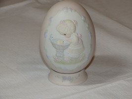 Precious Moments 529095 A Reflection of His Love egg with stand girl bir... - $39.59
