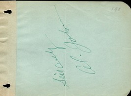 AL JOLSON Autograph. Signed on album page. The Jazz Singer - $113.85