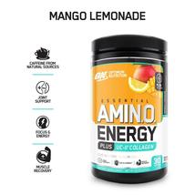 Optimum Nutrition On Amino Energy + Uc-Ii Collagen, Mango Lemonade, 30 S... - $130.39