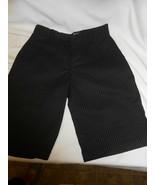 Boys sz 26 10 Chino blue crown black pin striped casual or dress shorts... - $14.84