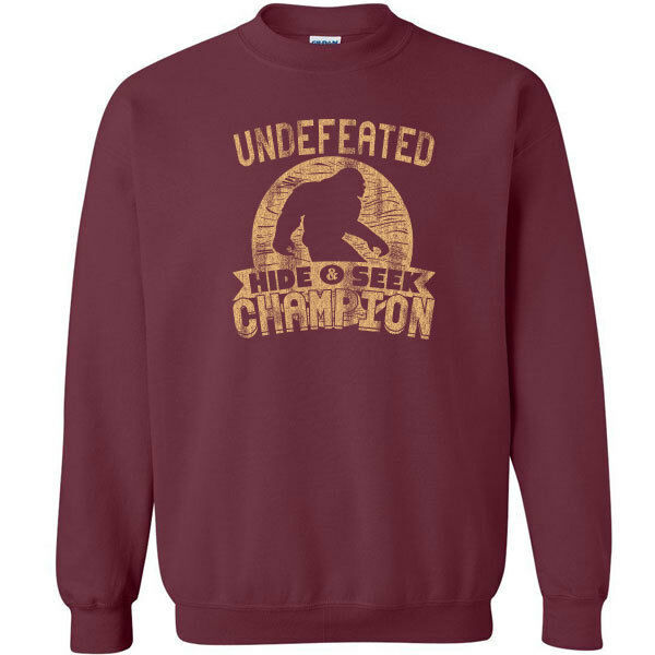 487 Undefeated Hide and Seek Champion Crew Sweatshirt sasquatch big foot new image 10