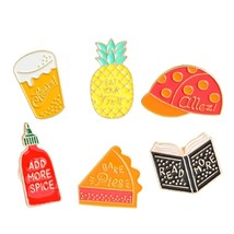 Miss Zoe 4~14pcs/set Cartoon enamel pins set Fairy tale Brooches Denim c... - $18.36