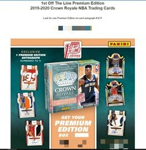 2019-20 Crown Royale Premium Edition Basketball Box - First Off The Line... - $299.99