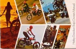 1971 Harley Davidson Orig Baja Owners Owner's Manual Motorcycles Xlnt - $28.71