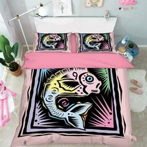 3D Fish Picture Bed Pillowcases Quilt Duvet Cover Set Single Queen King Size AU - $90.04+