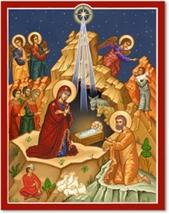 "Star of Bethlehem - 8"" x 10"" print With Lumina Gold"