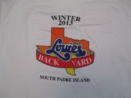 Louies Back yard Texas South Padre winter Championship 2013 T Shirt Size XL - $10.99