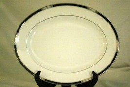 "Lenox 2019 Hancock Platinum Oval Platter 13 1/2"" New With Tags First Qua... - $125.99"