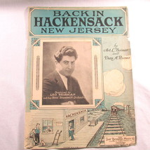 Antique Sheet Music Back in Hackensack New Jersey NJ Cover Only 1924 Leo... - $14.98