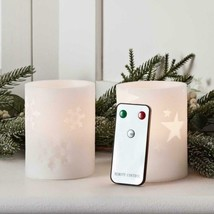 Lights4fun Inc Battery Operated Flameless Led Wax Pillar Candles Real Fa... - $15.82