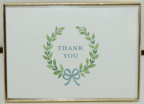 Caspari 90614 48 Thank You Wreath by Janine Moore 6 Notes and Envelopes