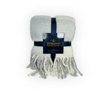 Pendleton Rob Roy Super Soft Throw 50 x 70 Plaid Ivory Grey New - $74.25