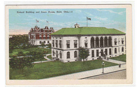 Federal Building Court House Enid Oklahoma 1920c postcard - $5.94