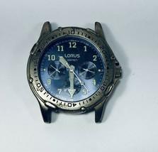 Vintage Men's LORUS Wrist Watch Sub Dial 24 Hour/Date/DA 30 Meters Resis... - $29.65