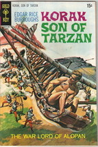 Korak Son of Tarzan Comic Book #34 Gold Key Comics 1970 FINE - $9.74